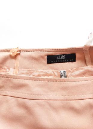 Классическая юбка пудрового цвета, размер s-m5