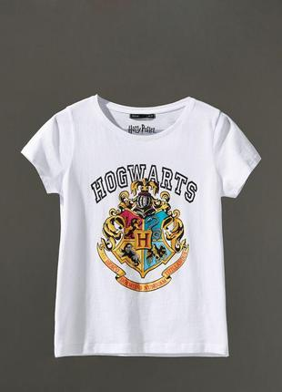 Новая белая футболка house harry potter hogwarts гарри поттер хогвартс герб xs s m l xl