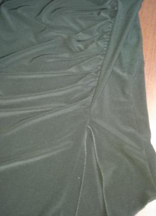 Трикотажная юбка с ассиметрией