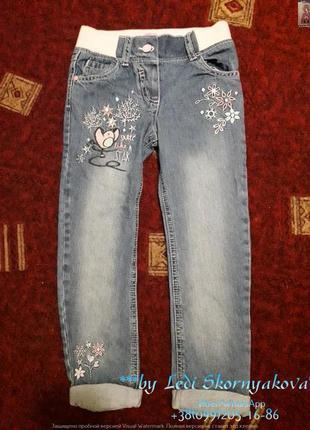 Новые красивые  джинсы на девочку 5-6 лет