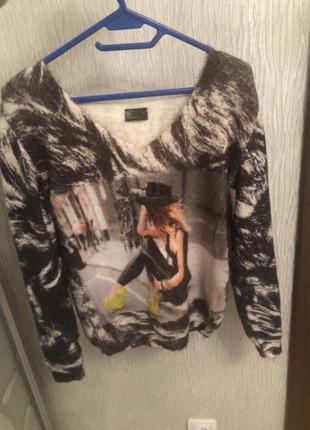Свитер пуловер натуральна ангора фирмы sogo турция