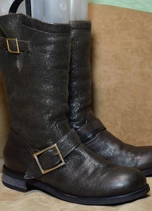 Ботинки jimmy choo сапоги зимние овчина цигейка. италия. оригинал. 39 р./25.5 см.