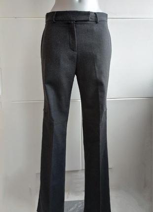 Стильные шерстяные брюки karen millen серого цвета с карманами на молнии