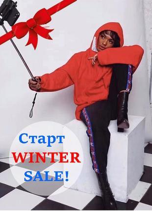 Winter sale! супер теплые штаны на флисе champion. все размеры! унисекс!
