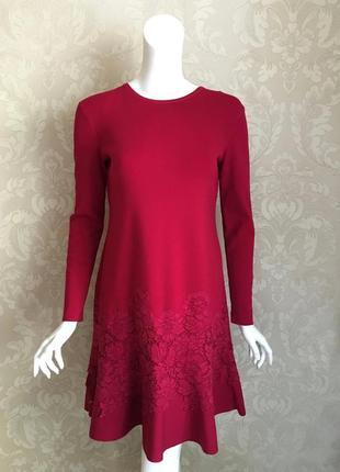 Valentino оригинал италия дизайнерское трикотажное шерстяное платье
