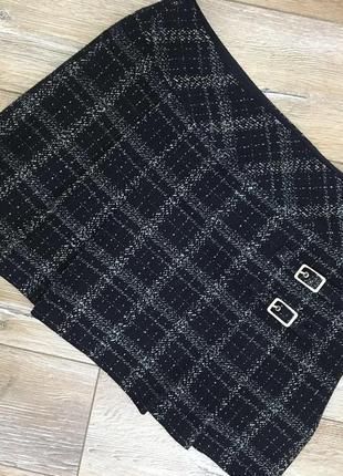 Стильная шерстяная юбка мини 🖤