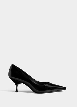Скидка! лакированные туфли на среднем каблуке, 36-40