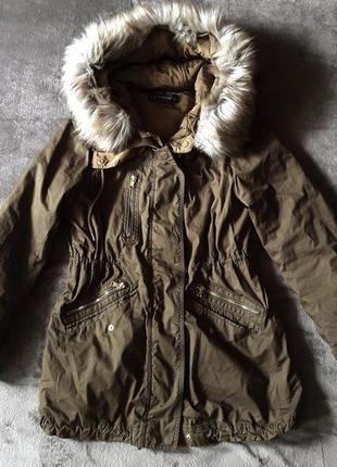Женская куртка парка 2 в 1 zara