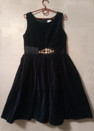 Gymboree платье с камнями велюр бархат1