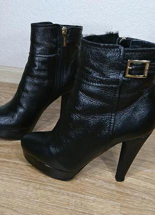 Ботинки кожаные зимние jimmy choo оригинал размер 36