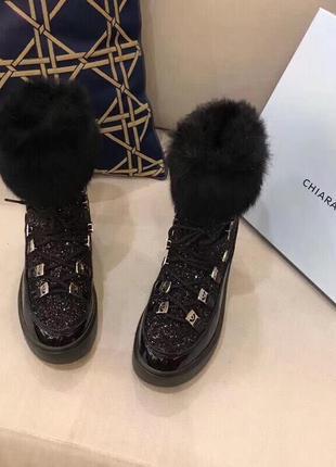Зимние ботинки chiara ferragni