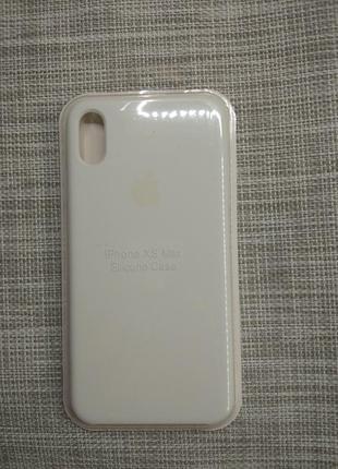 Чехол silicon case на iphone xs max белый