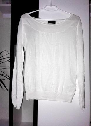 Белый утонченный свитер vero moda
