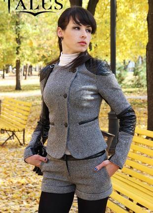 Стильные, теплые шерстяные шорты