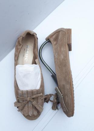 Maripe италия/замшевые туфли лодочки балетки р.40-стелька 26см