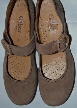 Туфли мокасины балетки кожа gabor розмір 39 (6) 40, туфлі мокасіни