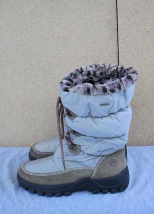 Зимние ботинки rohde замша + текстиль германия 37р