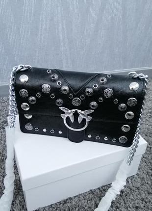 Новая кожаная сумка клатч pinko