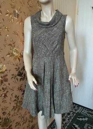 Теплое платье сарафан с хомутом