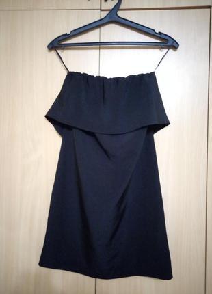 Коротке чорне плаття zara платье платья сукня сарафан  зара