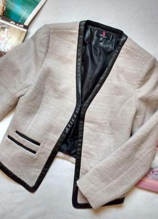 """Стильный пиджак с кожаной отделкой """"simon jeffrey"""""""