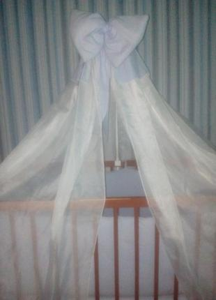 Комплект для детской кроватки с балдахином «совушки»
