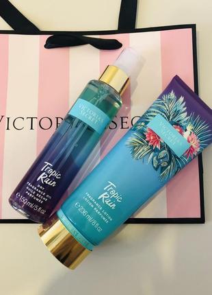 На подарок масло спрей+парфюмированный лосьон крем виктория сикрет victoria's secret