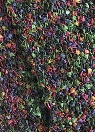 Шарф меланжевый разноцветный4