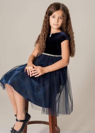 Нарядное бархатное платье с пышной юбкой