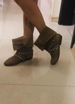 Ботинки zara, из италии