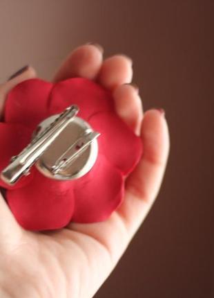 """Заколка-брошь """"красная роза"""". лучший подарок девушке3"""