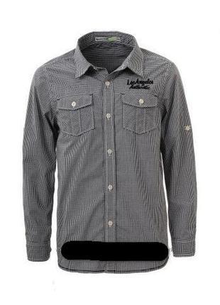 Модная стильная рубашка we р.134-140 (9-10лет) хлопок 100% черная мелкая клетка в идеале