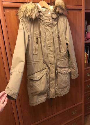 Куртка/парка зимняя bershka