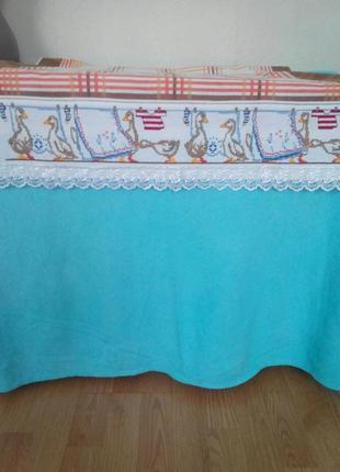 Вышитый бордюр для скатерки-накидки, полотенца и т.п.2 фото