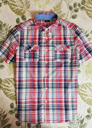 Фирменная рубашка в клетку f&f