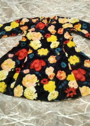 Джинсовые платье в цветочек