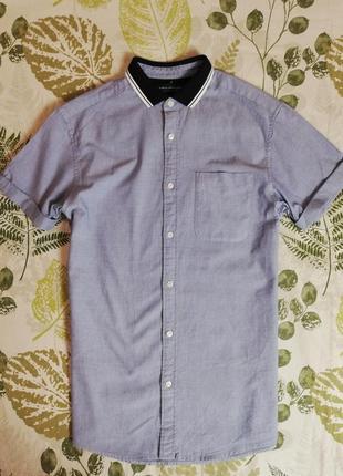 Брендовая крутая рубашка вязаный ворот jack & jones