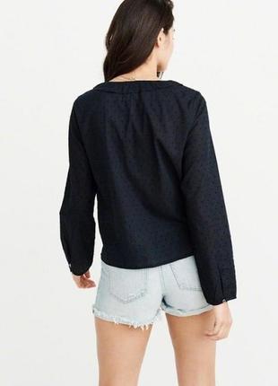 Темно-синяя блуза abercrombie & fitch2 фото