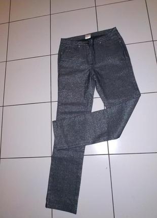 """""""металлические"""" штаны джинсы скинни из каталога квелле"""