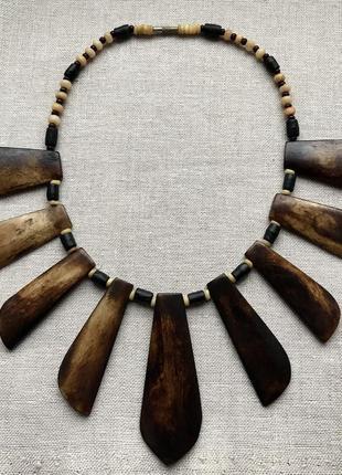 Африканское ожерелье. слоновая кость. бохо.