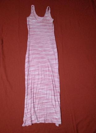 Платье майка длинное в полоску
