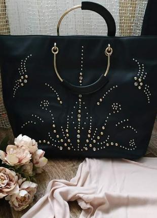 Черная большая сумка tosca blu