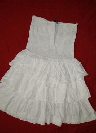 Нежное платье рюши воланы