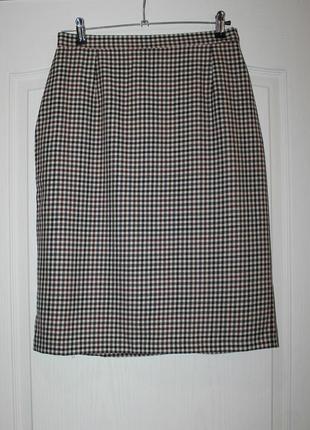 Теплая шерстяная юбка/100% шерсть