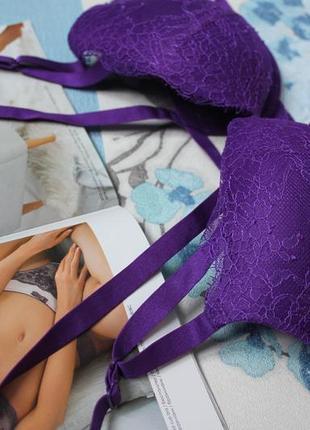 Шикарный фиолетовый бюстгальтер/лифчик с пуш ап2 фото