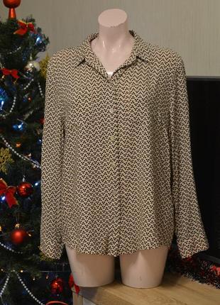 Стильная блуза, вискоза. базовая блуза