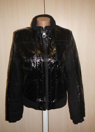 Кожаная куртка armo collection р.38 бомбер