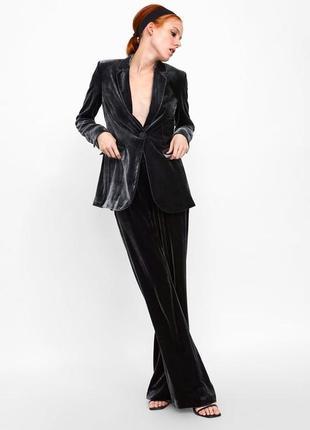 Zara бархатный  костюм, s, м, шёлк