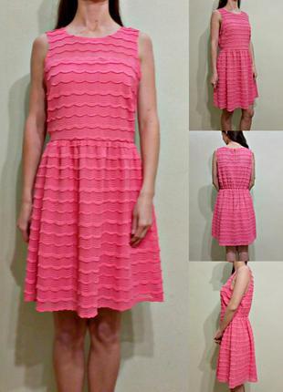 Розовое кружевное платье с подкладкой 14