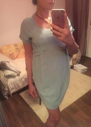 Платье небесного цвета париж